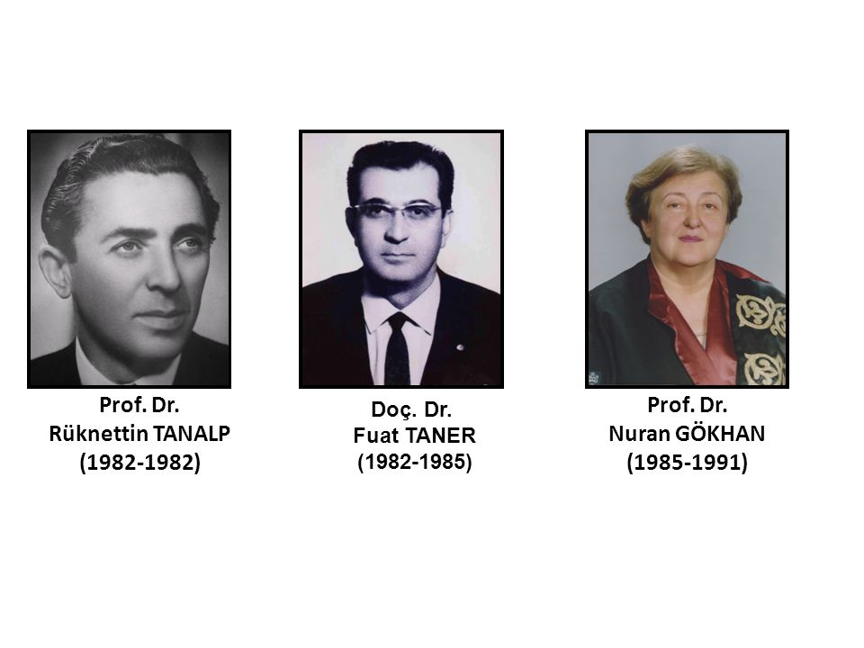 Prof. Dr. Rüknettin TANALP (1982-1982)