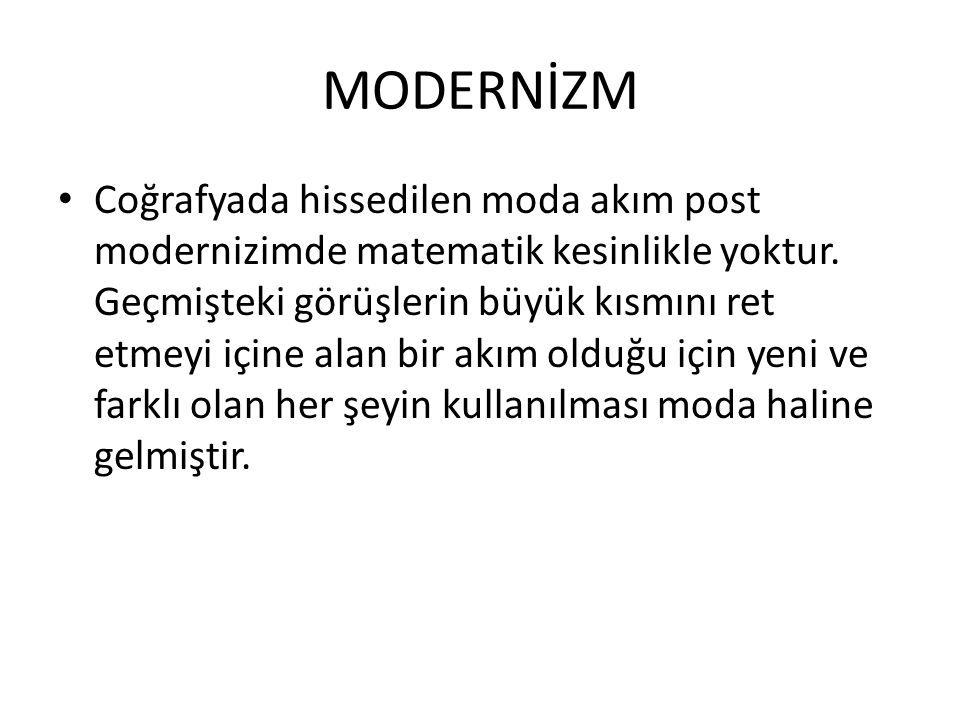MODERNİZM