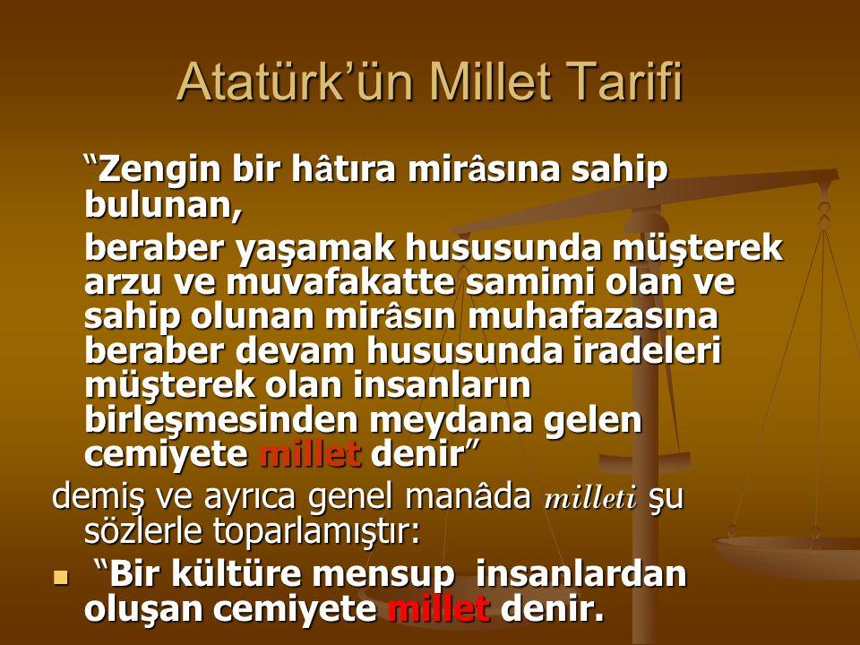 Atatürk'ün Millet Tarifi