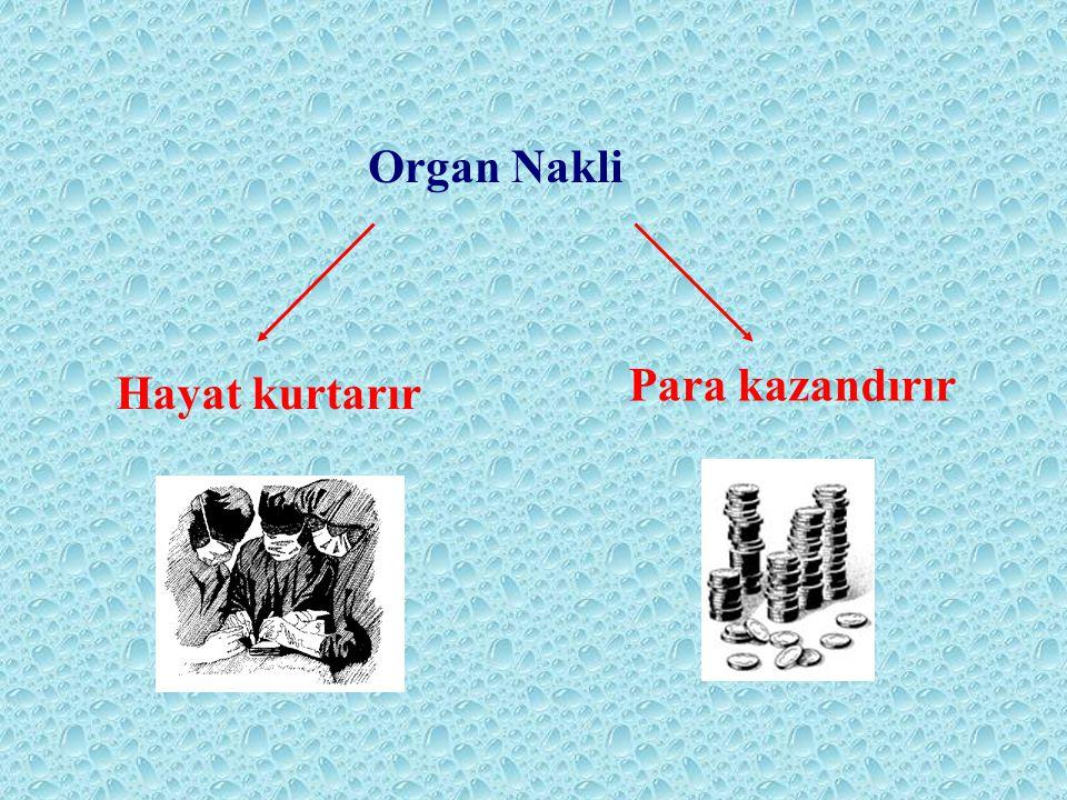 Organ Nakli Para kazandırır Hayat kurtarır