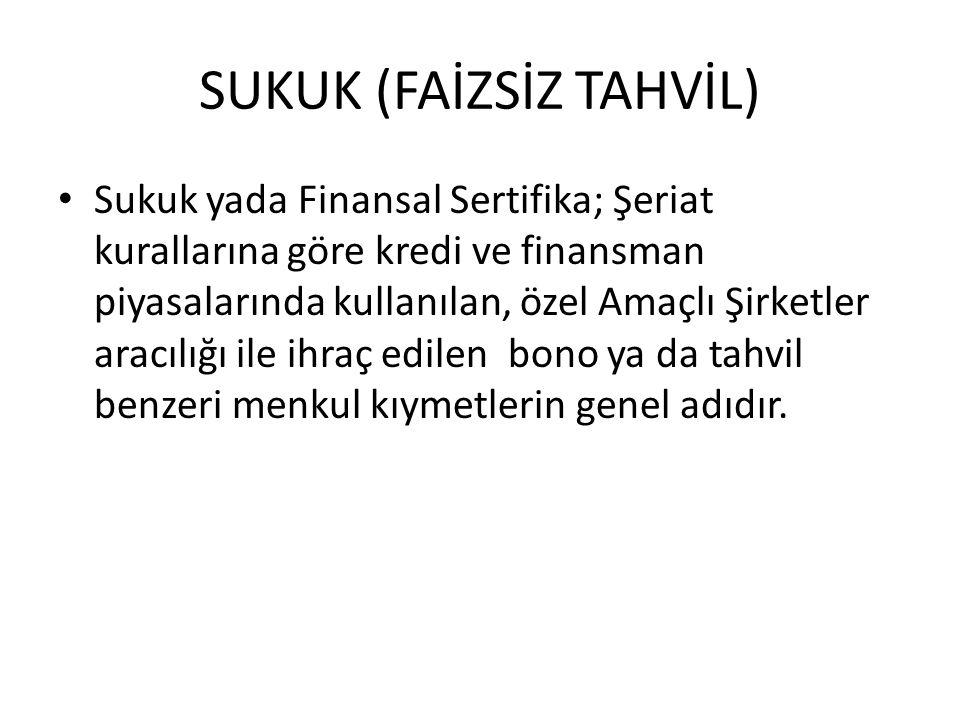 SUKUK (FAİZSİZ TAHVİL)
