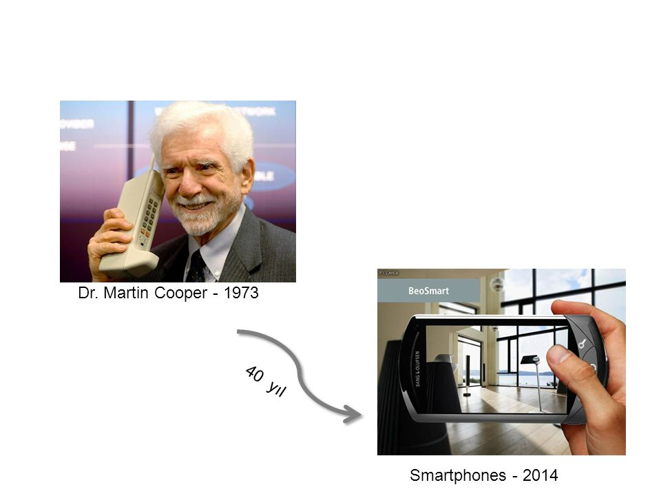 Dr. Martin Cooper - 1973 40 yıl Smartphones - 2014