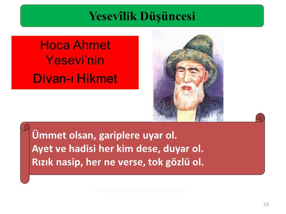 Yesevîlik Düşüncesi Hoca Ahmet Yesevi'nin Divan-ı Hikmet