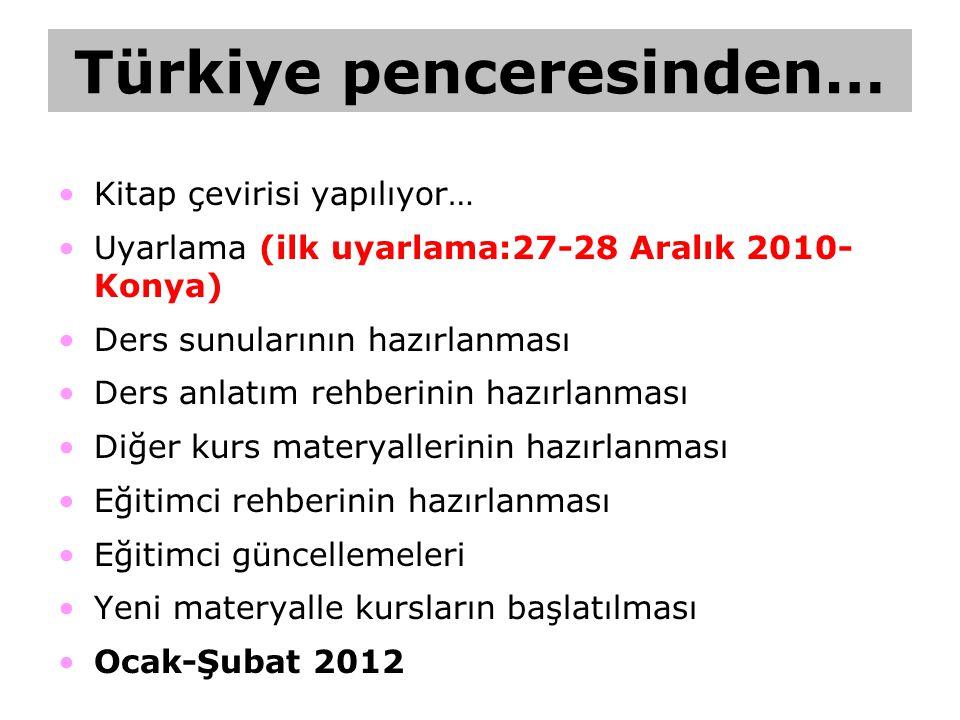 Türkiye penceresinden…