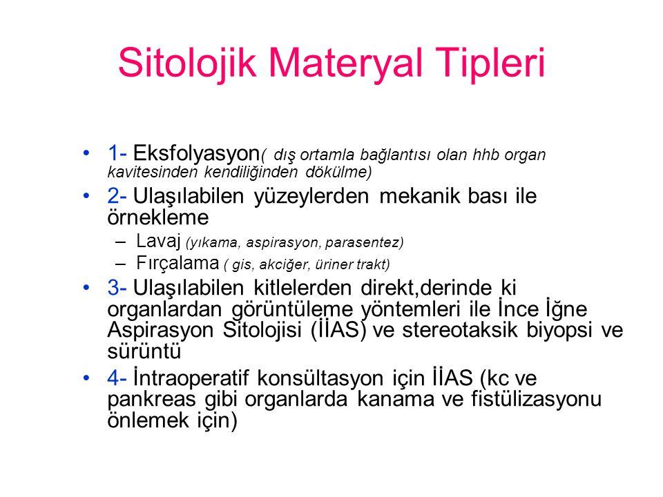 Sitolojik Materyal Tipleri