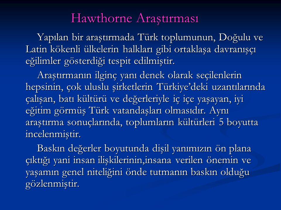 Hawthorne Araştırması