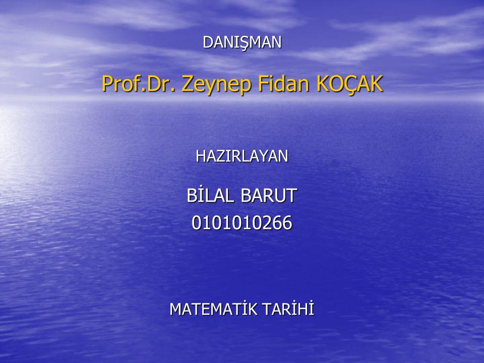 Prof.Dr. Zeynep Fidan KOÇAK