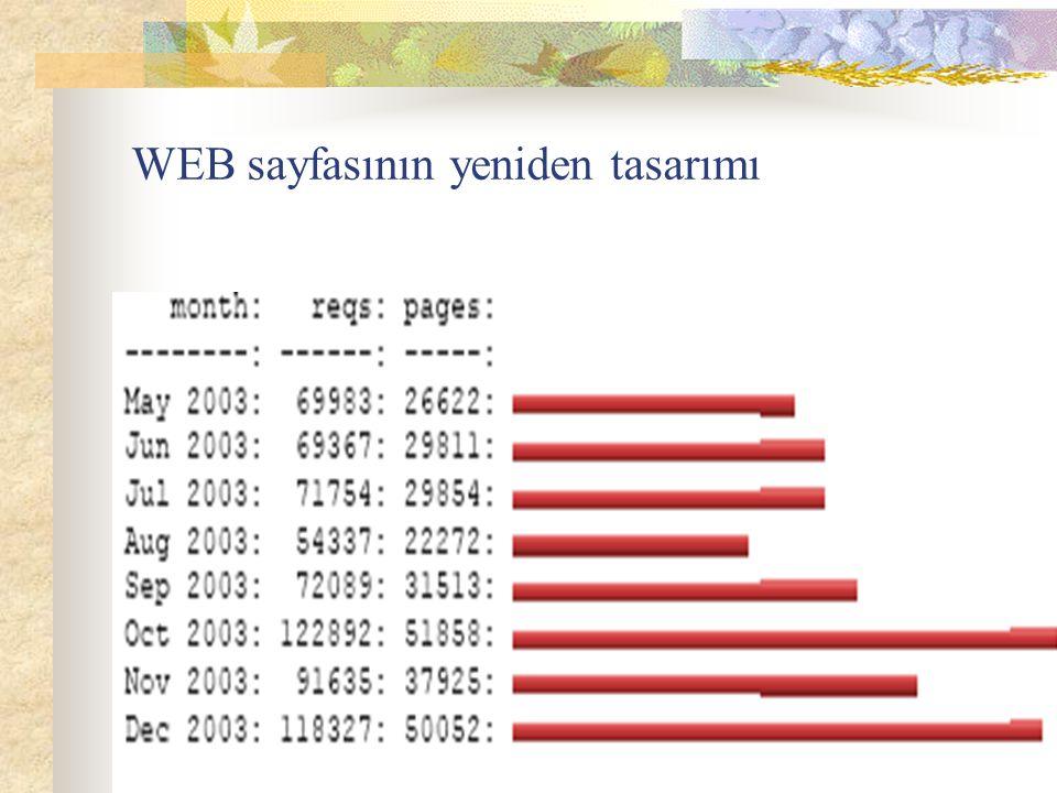 WEB sayfasının yeniden tasarımı