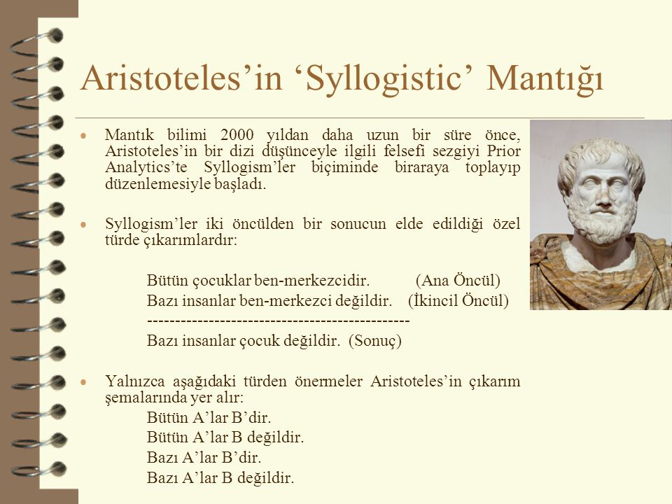 Aristoteles'in 'Syllogistic' Mantığı