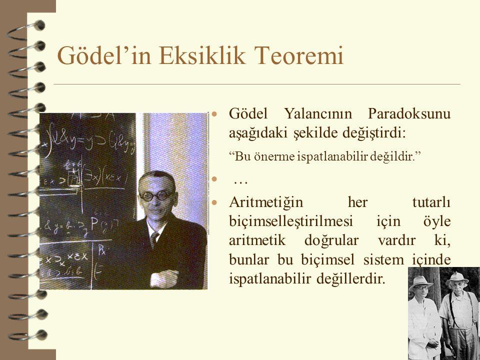 Gödel'in Eksiklik Teoremi