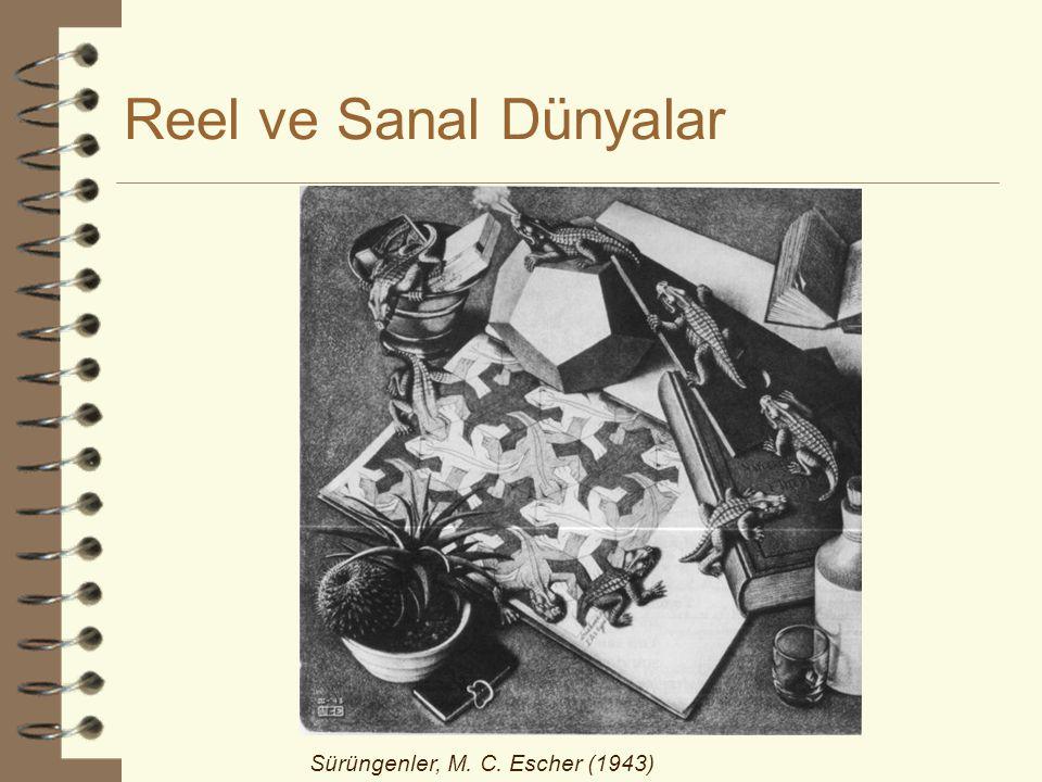 Reel ve Sanal Dünyalar Sürüngenler, M. C. Escher (1943)