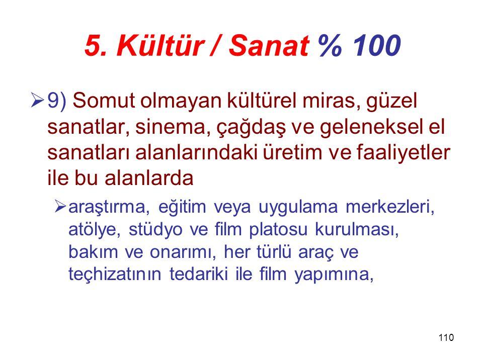 5. Kültür / Sanat % 100