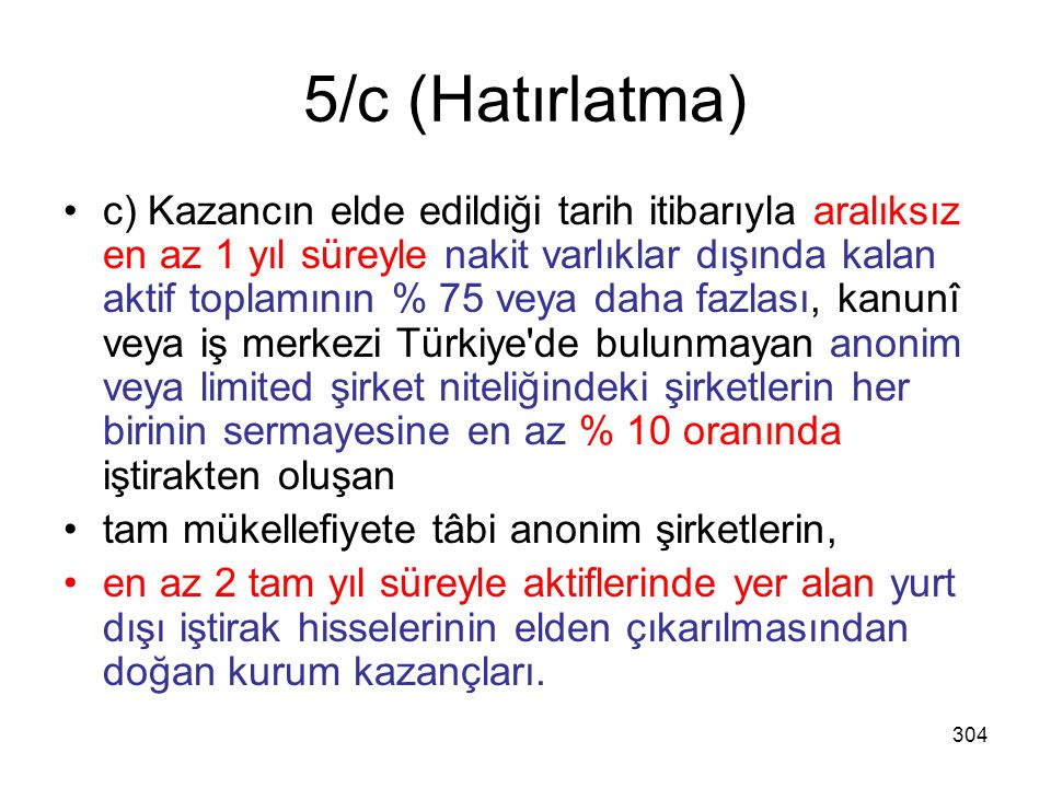 5/c (Hatırlatma)