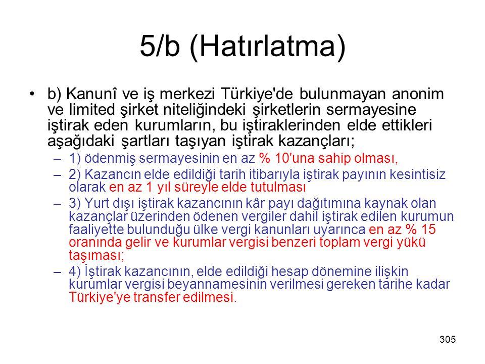 5/b (Hatırlatma)