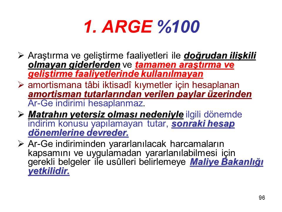 1. ARGE %100