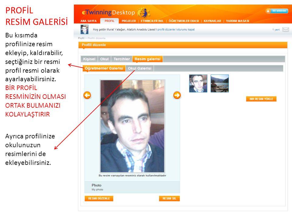 PROFİL RESİM GALERİSİ. Bu kısımda profilinize resim ekleyip, kaldırabilir, seçtiğiniz bir resmi profil resmi olarak ayarlayabilirsiniz.