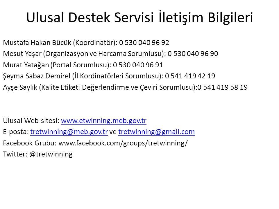 Ulusal Destek Servisi İletişim Bilgileri