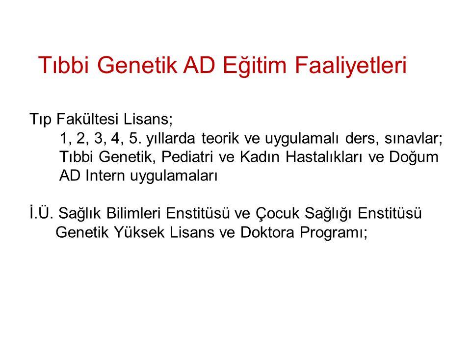 Tıbbi Genetik AD Eğitim Faaliyetleri