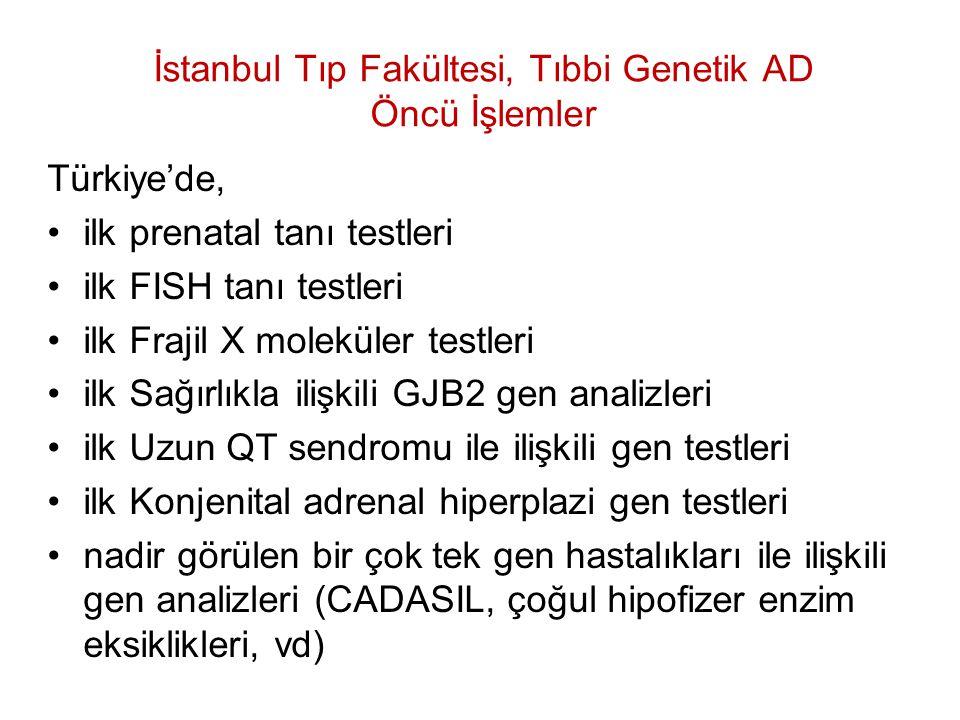 İstanbul Tıp Fakültesi, Tıbbi Genetik AD Öncü İşlemler