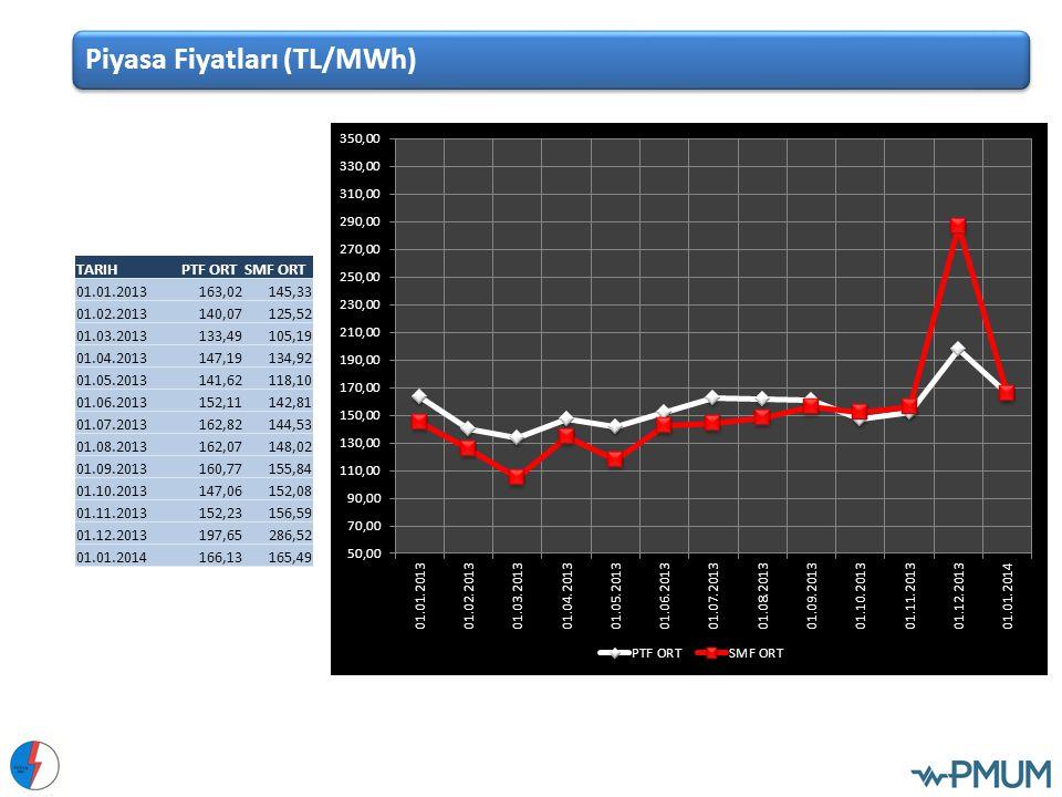 Piyasa Fiyatları (TL/MWh)