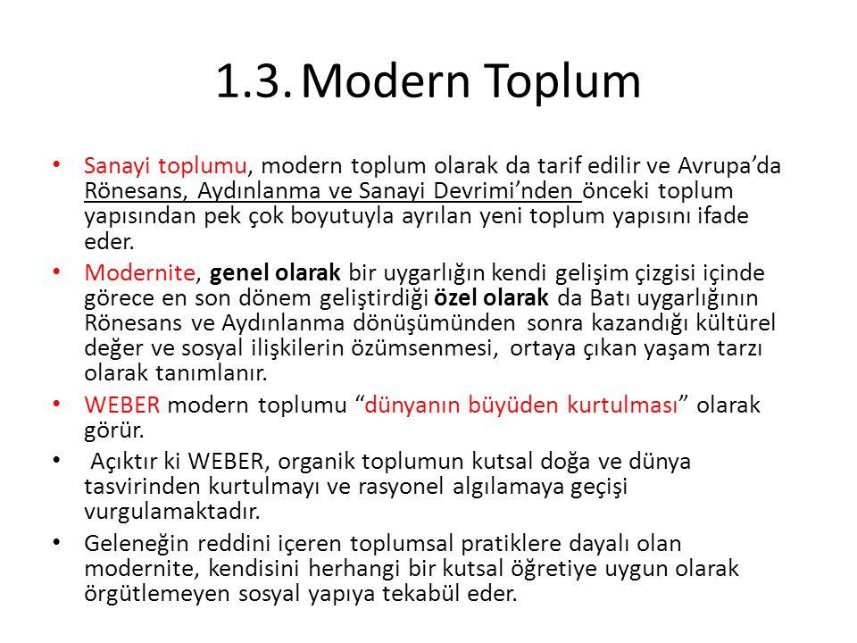 1.3. Modern Toplum
