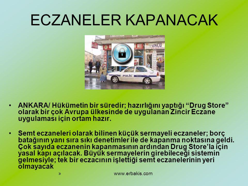 ECZANELER KAPANACAK