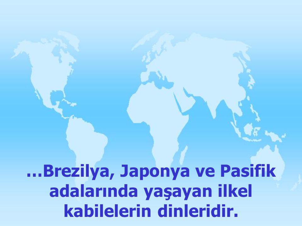 …Brezilya, Japonya ve Pasifik adalarında yaşayan ilkel kabilelerin dinleridir.