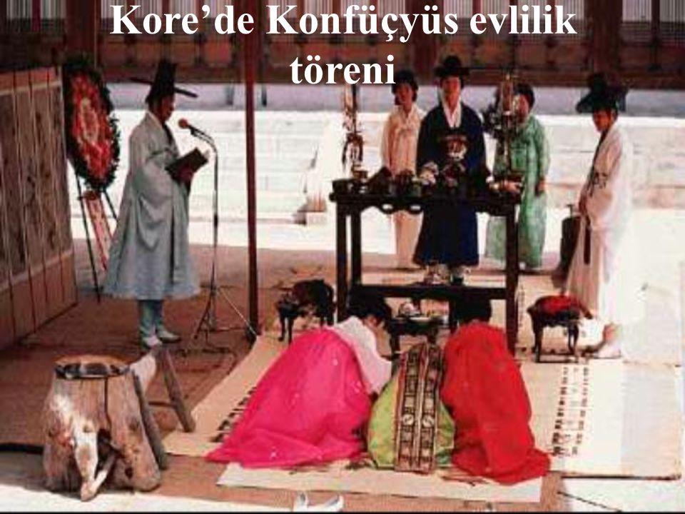 Kore'de Konfüçyüs evlilik töreni