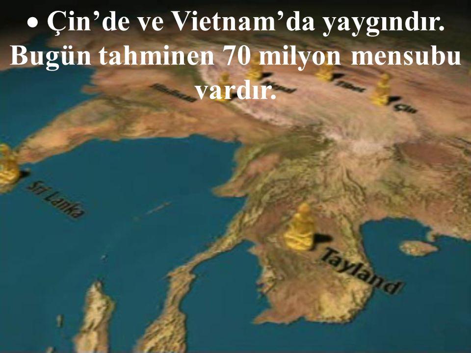 Çin'de ve Vietnam'da yaygındır. Bugün tahminen 70 milyon mensubu vardır.