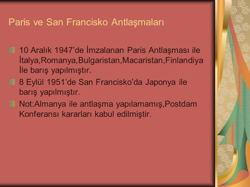 Paris ve San Francisko Antlaşmaları