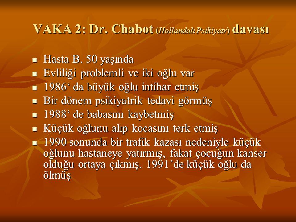 VAKA 2: Dr. Chabot (Hollandalı Psikiyatr) davası