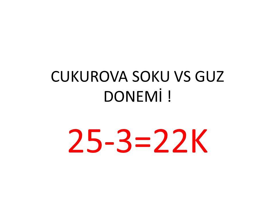 CUKUROVA SOKU VS GUZ DONEMİ !