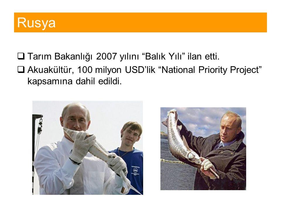 Rusya Tarım Bakanlığı 2007 yılını Balık Yılı ilan etti.