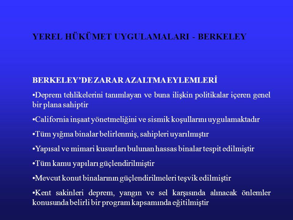 YEREL HÜKÜMET UYGULAMALARI - BERKELEY