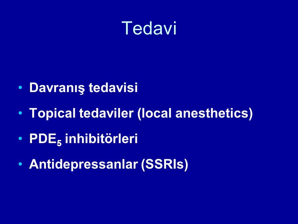 Tedavi Davranış tedavisi Topical tedaviler (local anesthetics)