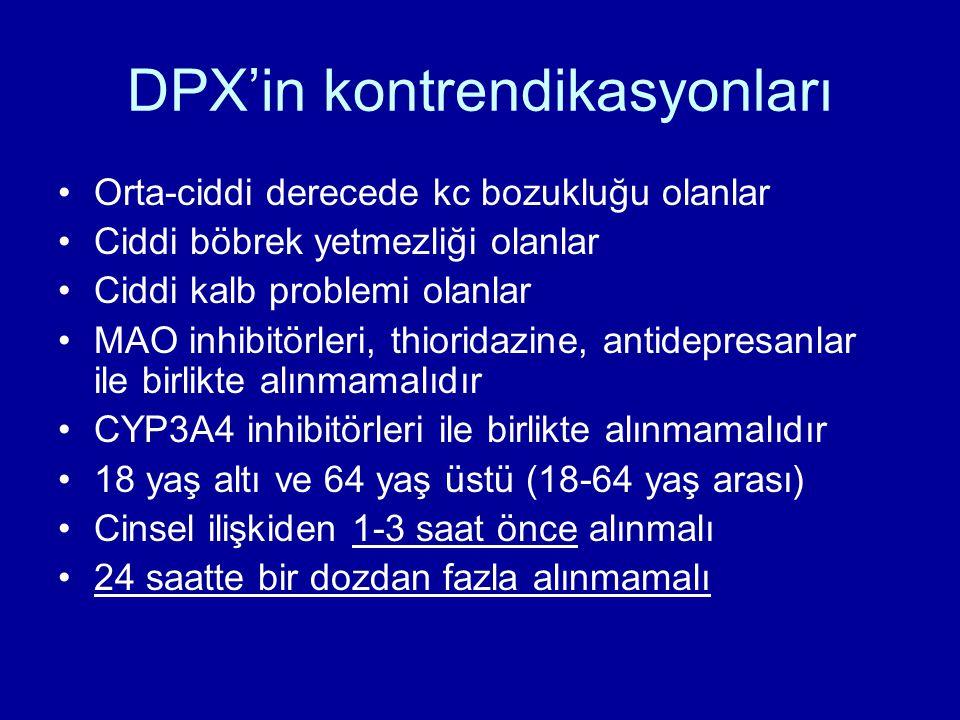 DPX'in kontrendikasyonları