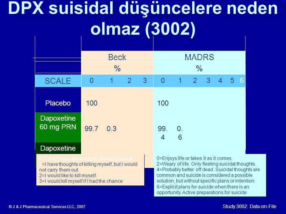 DPX suisidal düşüncelere neden olmaz (3002)