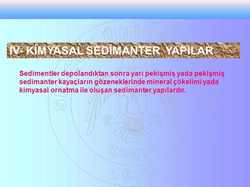 IV- KİMYASAL SEDİMANTER YAPILAR