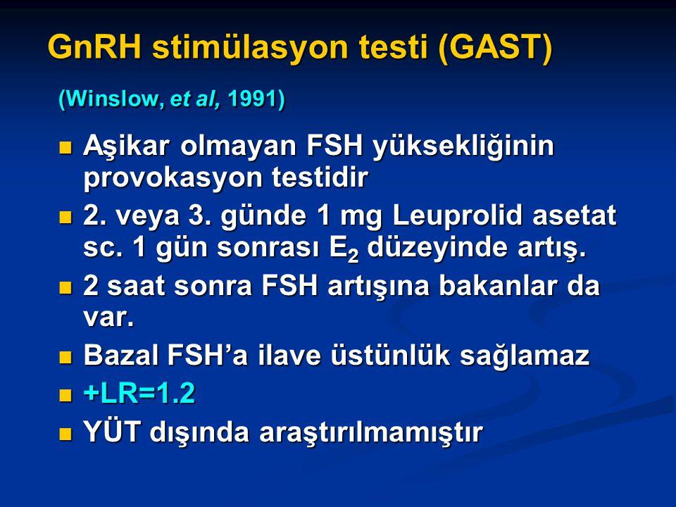 GnRH stimülasyon testi (GAST) (Winslow, et al, 1991)