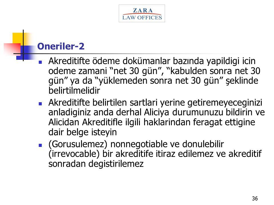 Oneriler-2