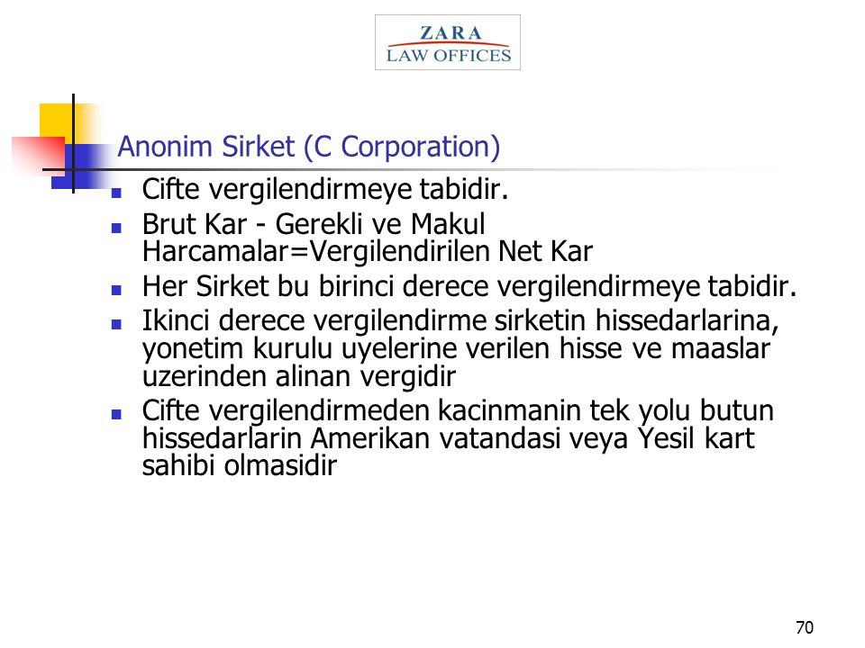 Anonim Sirket (C Corporation)