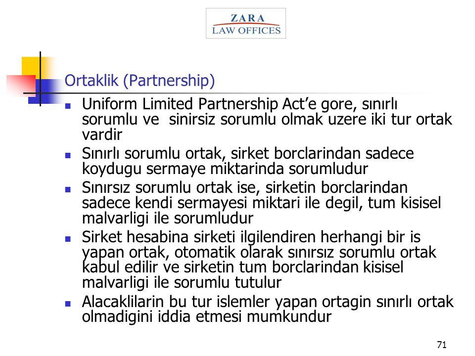 Ortaklik (Partnership)