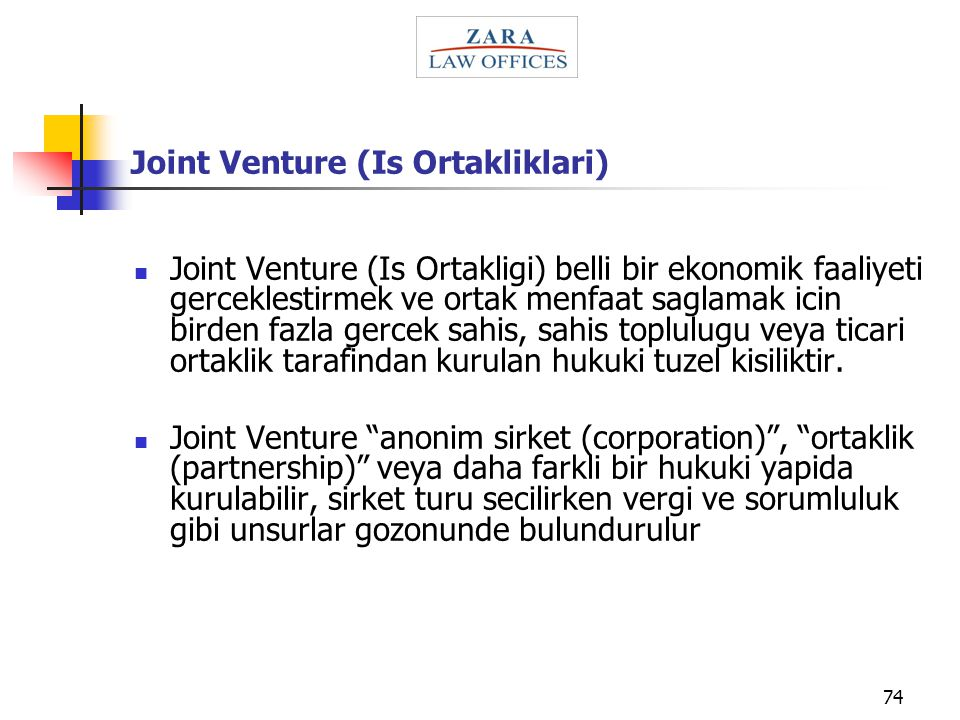 Joint Venture (Is Ortakliklari)