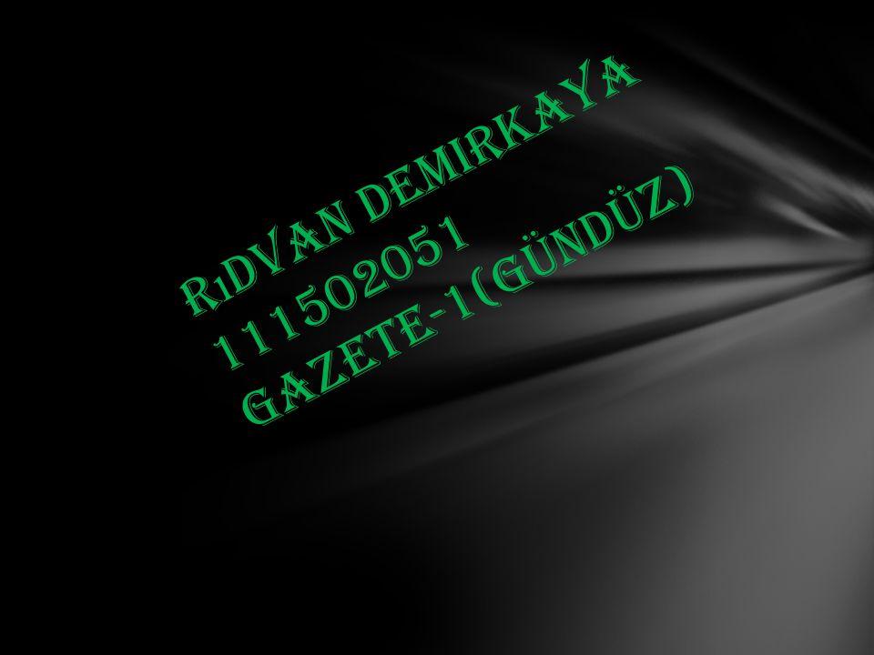 Rıdvan Demirkaya Gazete-1(gündüz) 111502051