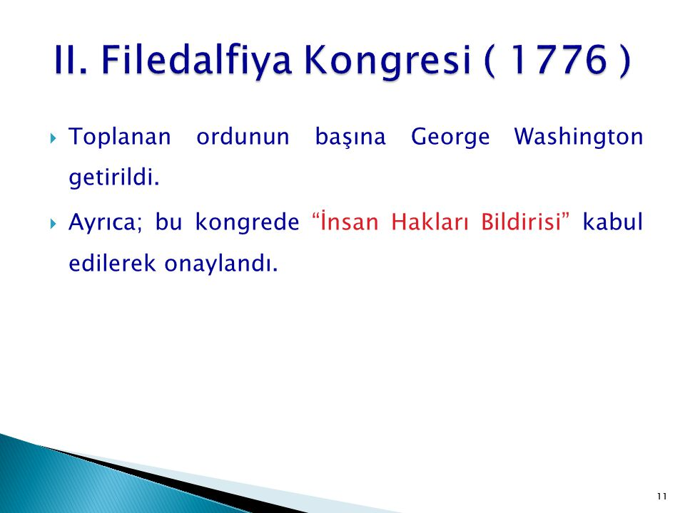II. Filedalfiya Kongresi ( 1776 )