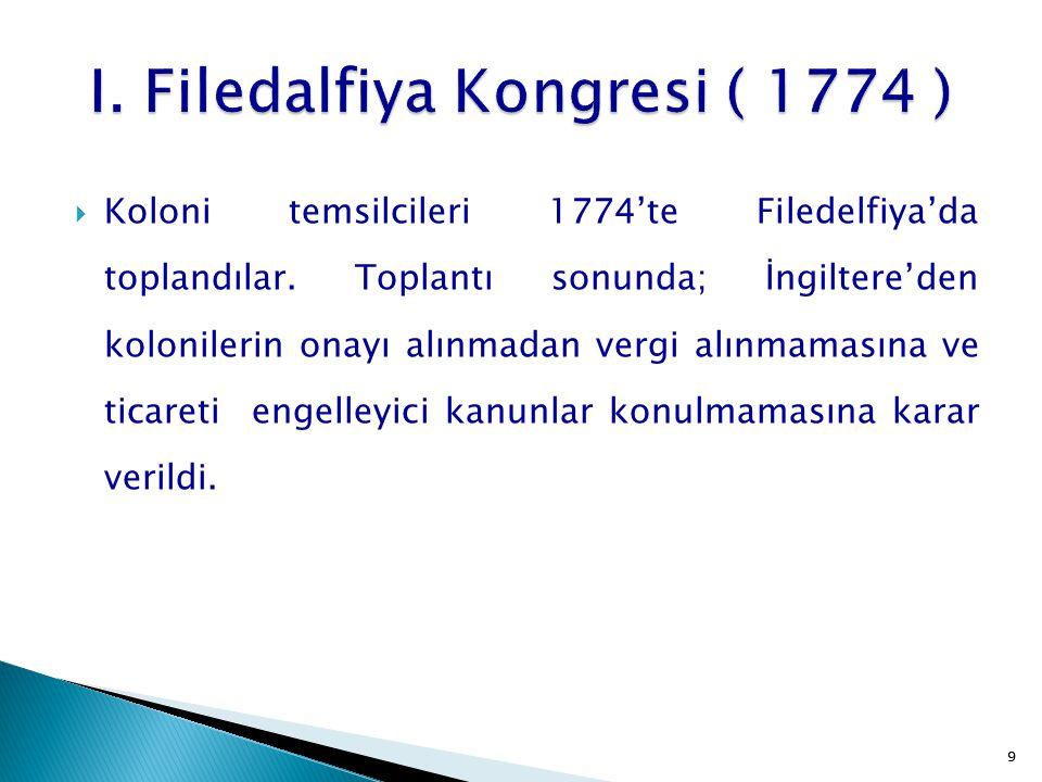 I. Filedalfiya Kongresi ( 1774 )