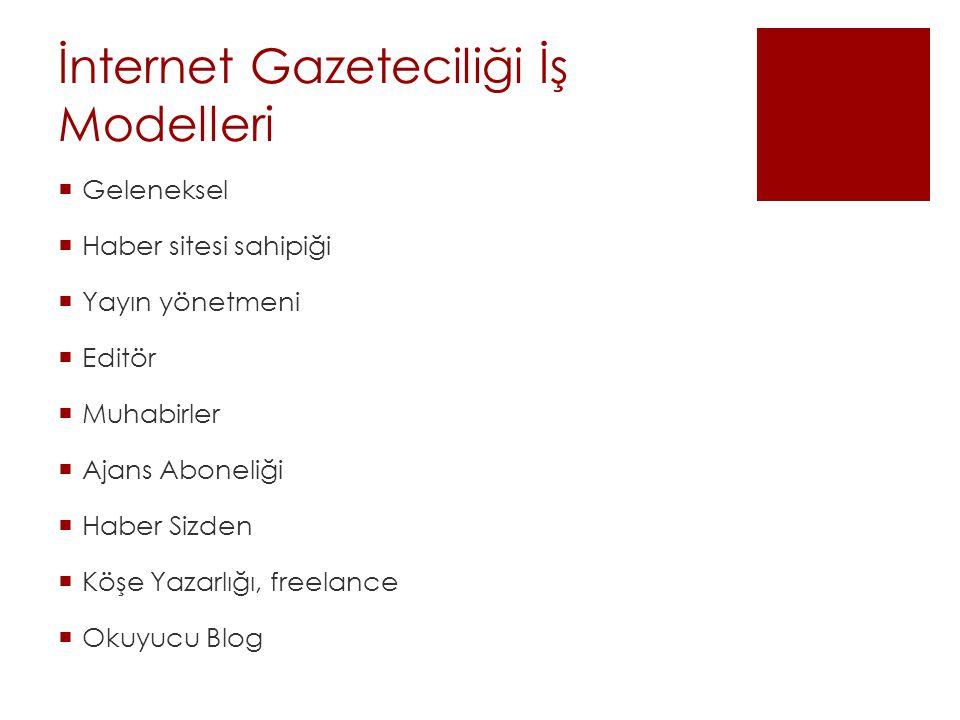 İnternet Gazeteciliği İş Modelleri
