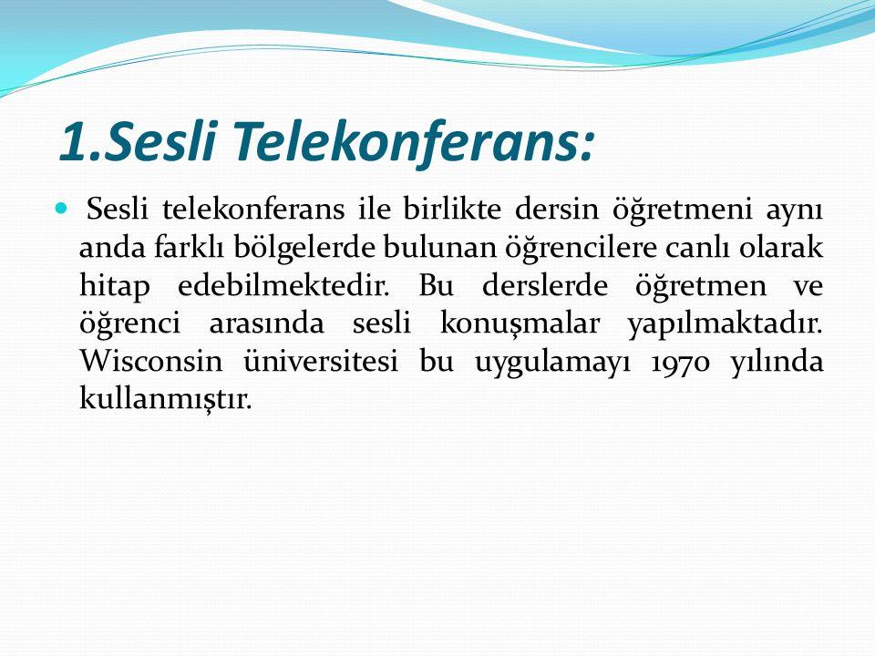 1.Sesli Telekonferans: