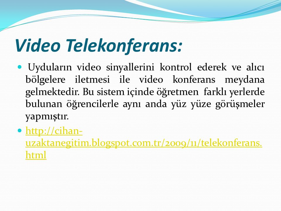 Video Telekonferans: