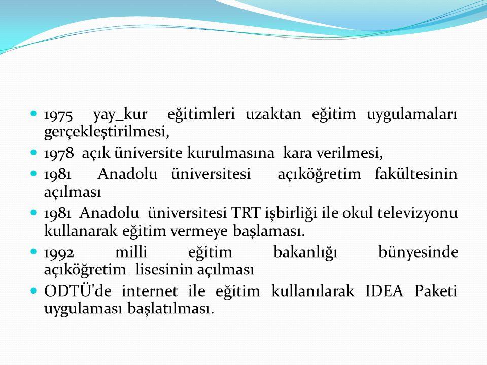 1975 yay_kur eğitimleri uzaktan eğitim uygulamaları gerçekleştirilmesi,